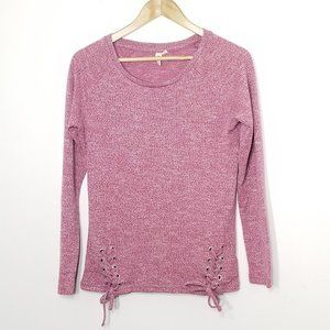 Be-You-Ti-Ful | Heather Pink Knit Sweater Top S